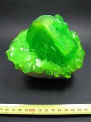 Sale 8331A - Lot 507 - Green Boussingaultite Cluster on Quartz
