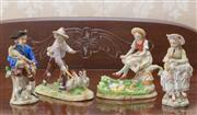 Sale 8375A - Lot 37 - Four German pastoral porcelain figurines