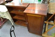 Sale 8507 - Lot 1048 - Fold-Out Desk Cabinet w Bookshelves