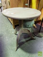 Sale 8545 - Lot 1024 - Painted Timber Wine Table on Tripod Base
