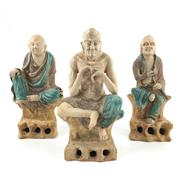 Sale 8545N - Lot 122 - Set of Three Sancai Asita Immortal Figures (H: 25cm)