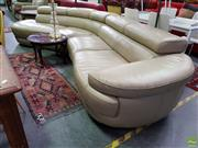 Sale 8570 - Lot 1098 - Nick Scali Perla Leather Lounge (370cm)
