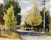 Sale 8668 - Lot 2036 - Jack McDonough - Autumn Afternoon, watercolour, 25x32cm, s.l.r