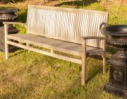 Sale 8795A - Lot 25 - A teak bench, L 180cm