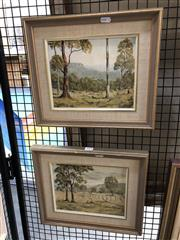 Sale 8816 - Lot 2020 - Ronald Peters (2 Works): Mountain Scene near Katoomba NSW & Landscape Sofala NSW, oil on board, 19 x 24cm (each) signed lower right...