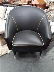 Sale 8822 - Lot 1032 - Pair of Vintage Leather Tub Chairs