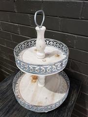 Sale 8962 - Lot 1092 - Pierced Metal 2 Tier Cake Stand (H:48 x D:34cm)
