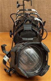 Sale 8984M - Lot 5 - A selection of four black metal adjustable stage lights.