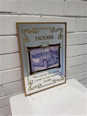 Sale 9080 - Lot 1072 - Packard 1928 Bar Mirror (38 x 28cm)