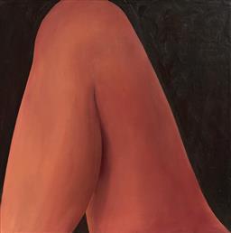 Sale 9084 - Lot 593 - Stephen Roberts - Naked Woman Reading 78.5 x 78.5 cm (frame: 89 x 89 x 5 cm)