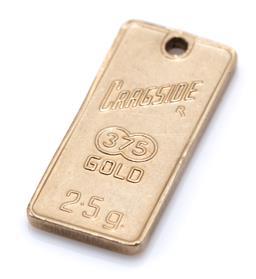 Sale 9169 - Lot 307 - A 9CT GOLD ZODIAC PENDANT; for Capricorn, 20.4  x 9.5mm, wt. 2.61g.