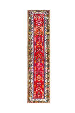 Sale 9173C - Lot 29 - VINTAGE KURDISH HERKI, 90X370CM, HANDSPUN WOOL