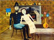 Sale 8666A - Lot 5085 - Sidney Robert Nolan (1917 - 1992) - Constable Fitzpatrick and Kate Kelly, 1946 25 x 33cm