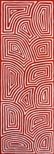 Sale 8301A - Lot 81 - George (Hairbrush) Tjungurrayi (c1947 - ) - Tingari 119 x 40cm