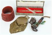 Sale 8429 - Lot 6 - Art Deco Purse with Other Wares incl. Lacquer Ware Bracelet