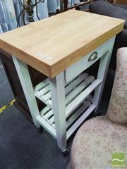 Sale 8424 - Lot 1074 - Modern Tiered Kitchen Island on Castors