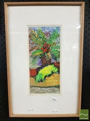 Sale 8474 - Lot 2049 - Kerry Blake, Palm, Watercolour, SLR