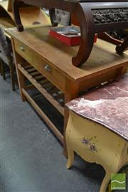 Sale 8480 - Lot 1130 - Timber Kitchen Island