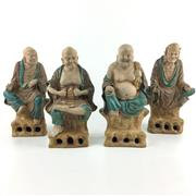Sale 8545N - Lot 123 - Set of Four Sancai Asita Immortal Figures (H: 25cm)