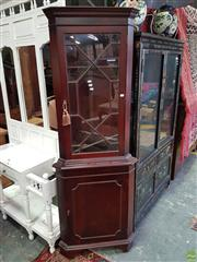 Sale 8585 - Lot 1720 - Corner Cabinet with Astragal Doors (185 x 65 x 43cm)