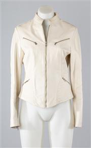 Sale 8685F - Lot 18 - A Vera Pelle Italian made white leather jacket, size 42