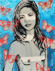 Sale 8838A - Lot 5186 - David Bromley (1960 - ) - Jana 36 x 28cm
