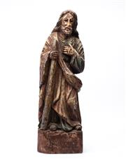 Sale 8871H - Lot 104 - An Antique carved and patinated religious figure, height 70cm