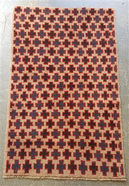 Sale 9121 - Lot 1080 - Persian hand knotted pure wool Balouchi (140 x 90cm)