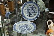 Sale 8348 - Lot 69 - Blue & White Pair of Export Ware Plates - Diameter 22cm