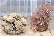 Sale 8368A - Lot 52 - Two shell floral arrangements