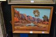 Sale 8441T - Lot 2029 - Henk Guth (1921 - ) - Central Australian Landscape 24.5 x 34.5cm