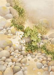 Sale 8636 - Lot 2040 - Alasdair McGregor (1954 - ) - Boulder Stone, Snowy River, Kosciusko 59 x 49cm
