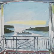 Sale 8708A - Lot 516 - Kevin Connor (1932 - ) - Untitled, 1978 (Balcony Scene) 34 x 35cm