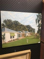 Sale 8707 - Lot 2051 - G.V. McRoberts - White House, Oil SLL, 40x50cm