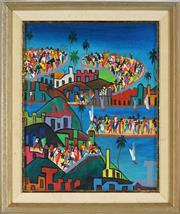 Sale 8853 - Lot 2022 - William Abraham - Seaside Town Party 24 x 19cm