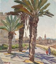 Sale 8892 - Lot 573 - Artist Unknown - Distant View of the Town (possibly Jerusalem) 48 x 53 cm