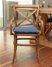 Sale 8904H - Lot 45 - A set of six cross back elbow chairs in oak