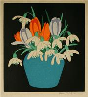 Sale 8947 - Lot 591 - Hall Thorpe (1874 - 1947) - Crocus & Snowdrops, 1922 16.5 x 15 cm (frame: 38 x 34 x 2 cm)