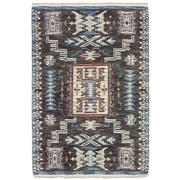 Sale 9061C - Lot 25 - Indian Aztec Design Ribbed Rug, 160x230cm, Handspun Wool