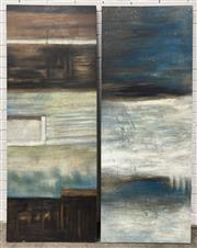 Sale 9063 - Lot 1014 - Pair of Decorative paintings, 76 x 180 cm