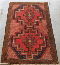 Sale 9121 - Lot 1081 - Persian hand knotted pure wool Balouchi (130 x 86cm)