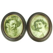Sale 8314 - Lot 74 - KPM Berlin Pair of Porcelain Portrait Plaques