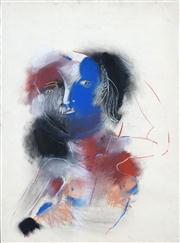 Sale 8410A - Lot 5041 - Anne Hall (1945 - ) - Untitled, 1967 (Blue-faced Model) 76.5 x 56cm (sheet size)