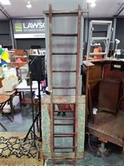 Sale 8462 - Lot 1063 - Rustic Timber Ladder