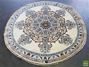Sale 8554 - Lot 1061 - Persian Silk Inlaid Round Nain (Diameter 200cm)