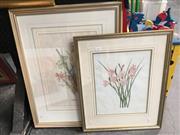 Sale 8720 - Lot 2069 - Pair of Botanical Decorative Works ( [1] watercolour) -