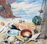 Sale 8943A - Lot 5006 - Ralph Malcolm Warner (1902 - 1966) - The Shells of Victoria, c1959 gouache