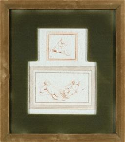 Sale 9150J - Lot 77 - AFTER LEONARDO DA VINCI Baby studies facsimile engravings framed dimensions 36 x 32cm