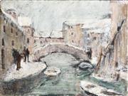 Sale 8964 - Lot 2029 - A. de Francesco Venice Scene oil on canvas, (frame)  signed lower left