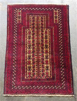 Sale 9121 - Lot 1035 - Persian hand knotted pure wool Balouchi (126 x 85cm)